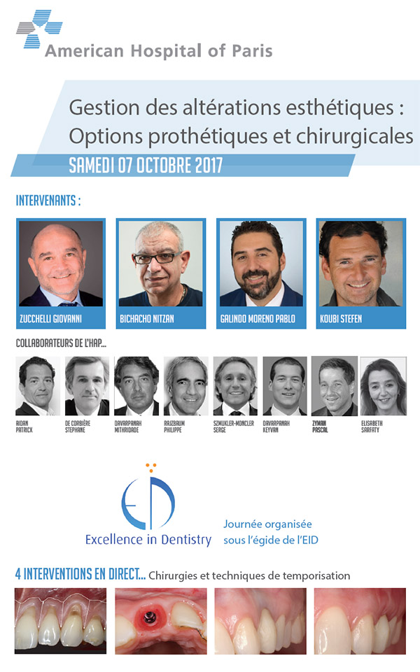 dentisterie esthétique. Options prothétiques et chirurgicales